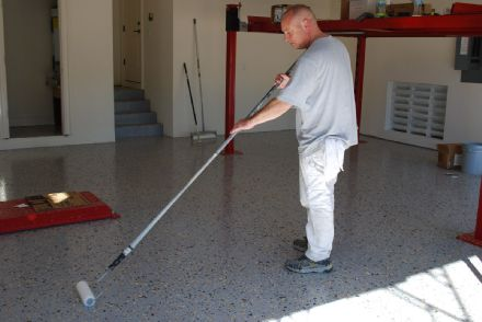 Applying Cement Floor Paint