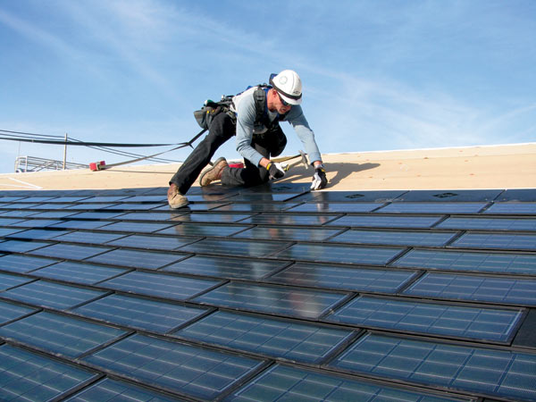 Energy Saving With Solar Power Roof Shingles